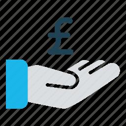 business, cash, cash out, donate, payment, pound, revenue icon