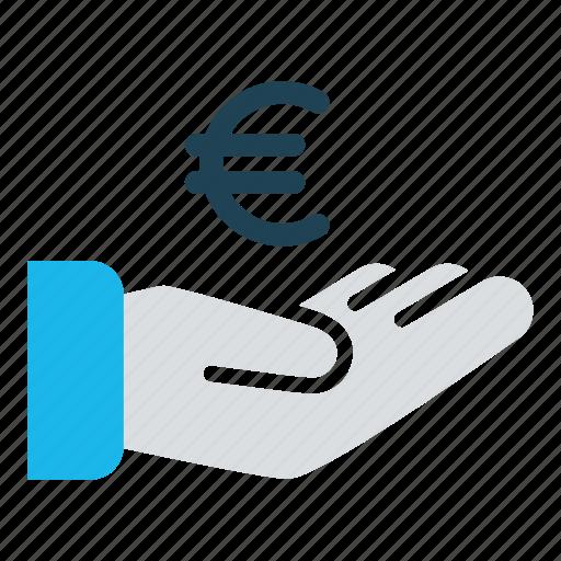 business, cash, cash out, donate, euro, payment, revenue icon