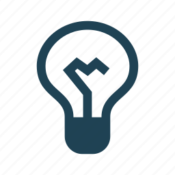 business, concept, idea, innovation, light bulb, productivity, solid icon