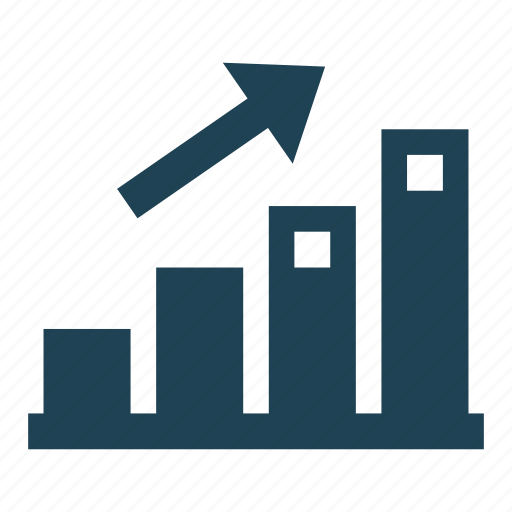 business, economy, graph, increase, rewenue growth, solid, statistics icon
