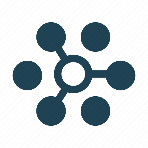 connect, distribution, manage, network, organize, share, solid icon