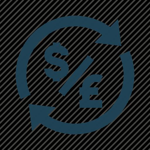 Conversion, dollar, exchange, finance, money, pound, transfer icon - Download on Iconfinder