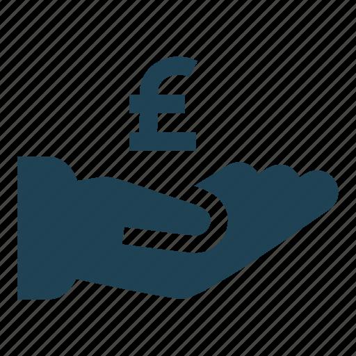 cash, cash out, donate, pay, payment, pound, revenue icon