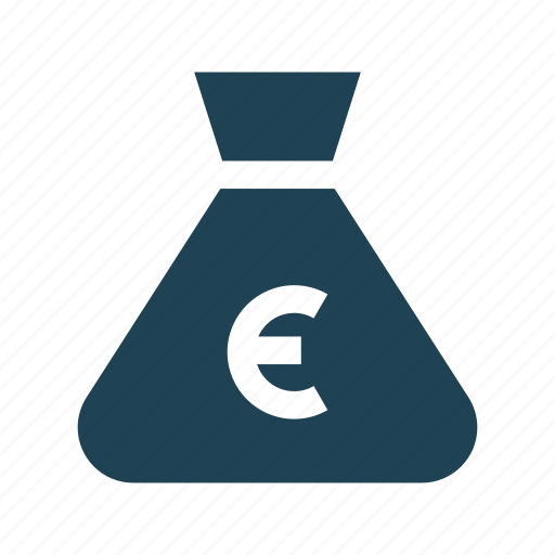 bank, budget, business, euro, finance, investment, money bag icon