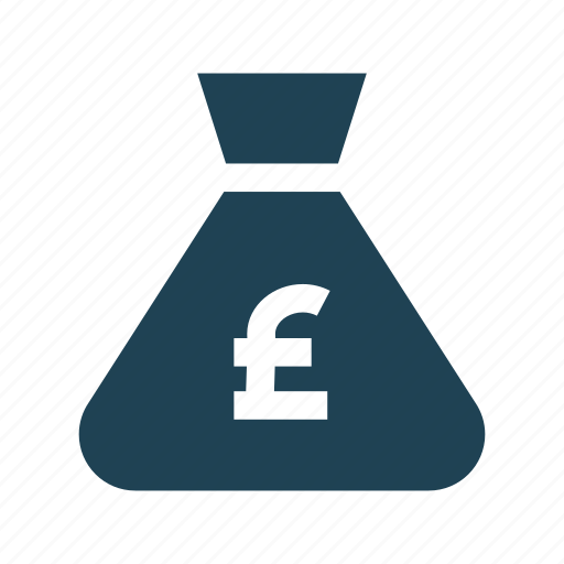 bank, budget, business, finance, investment, money bag, pound icon