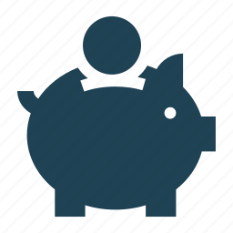 business, cash, currency, guardar, money, piggy bank, save, save money icon