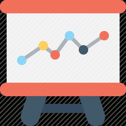 analytics, graph, line graph, presentation, projection icon