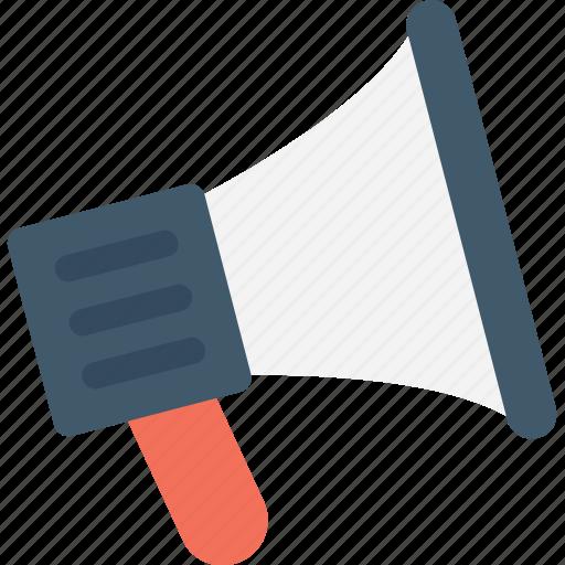 announcement, bullhorn, loudspeaker, megaphone, speaking trumpet icon