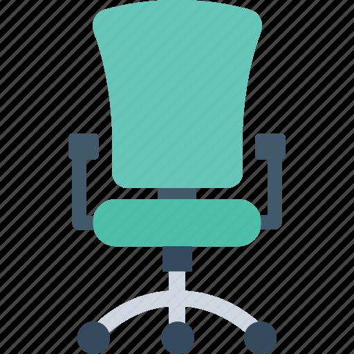 chair, furniture, office chair, revolving chair, swivel chair icon