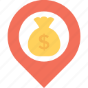 bank location, banks nearby, gps, navigation, placeholder icon