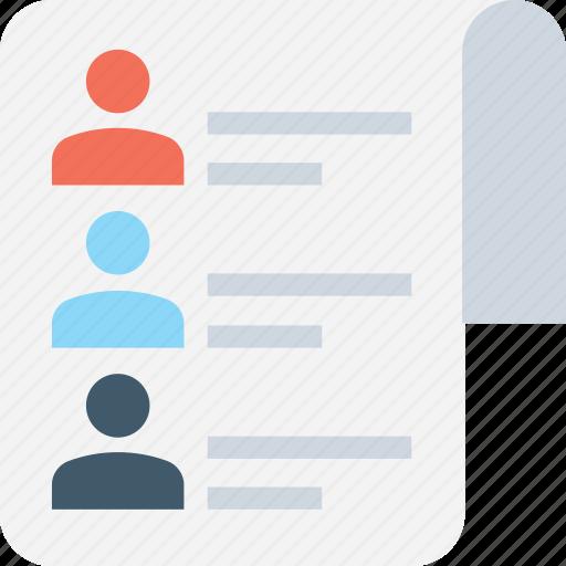 checklist, employees, human resource, poll, profiles icon