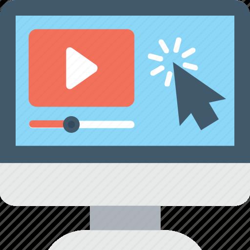 media, media player, monitor, multimedia, play video icon