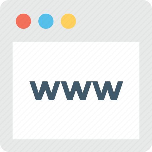 browser, domain, internet, website, www icon
