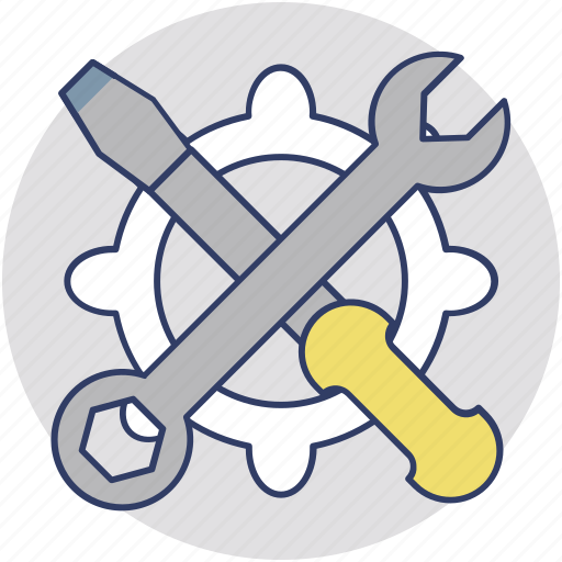 maintenance, service, service tools, technical support, workshop icon