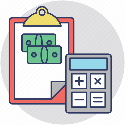 accounting, audit, banking, finance, payroll icon