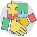 business deal, business handshake, corporate business, partnership, partnership agreement icon