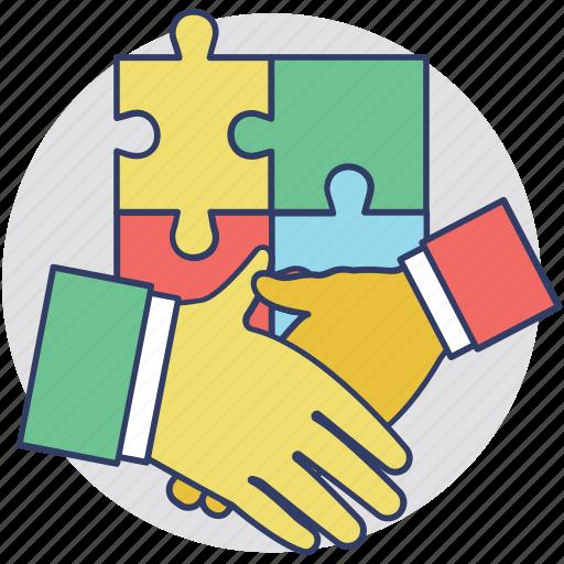 business deal, business handshake, corporate business, partnership, partnership agreement icon