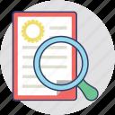 study, search, research, explore, investigate icon
