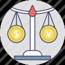 balance scale, balance, equality, scale, level icon