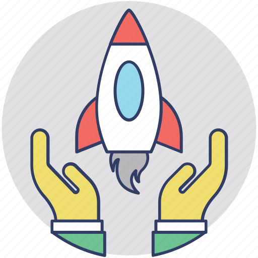 business launch, launching, new business, rocket launch, startup icon