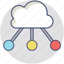cloud computing network, cloud connect, information technology, iot cloud, it cloud icon