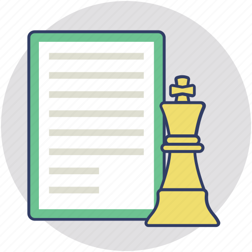 chess strategy, plan, scheme, strategy, tactic icon