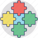 business jigsaw puzzle, business team, cofounder, corporate business, group of business icon