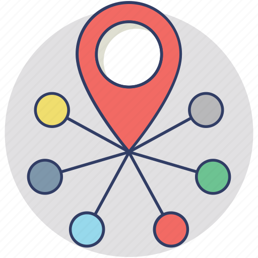 allocation, decentralized, delivery, distribution, spreading icon