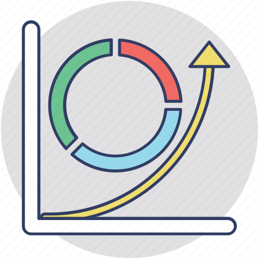calculating costs, cost and total, cost volume profit analysis, costs and revenues chart, graph icon
