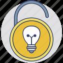 intellectual property, private idea security, protect your idea, idea protection, insurance of innovative idea icon