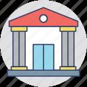 money, bank interior, finance, bank, bank building icon