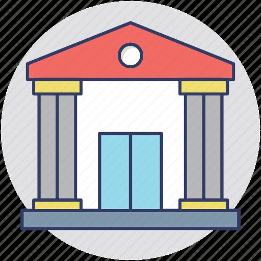 bank, bank building, bank interior, finance, money icon