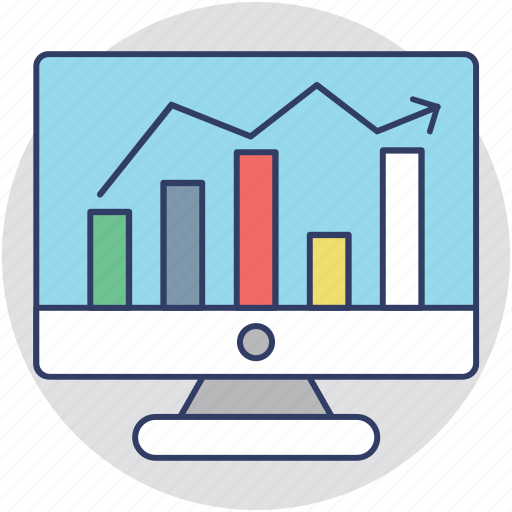 finance, investment, online stock exchange, online stock market, stock broker icon