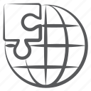 global solution, global jigsaw, puzzle strategy, worldwide strategy, global strategy icon