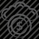 cloud cash, cloud currency, cloud earning, cloud money, cloud technology
