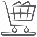 handcart, luggage cart, pushcart, shopping cart, shopping trolley icon