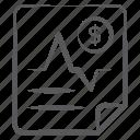 data analytics, decrease chart, financial loss, financial report, infographic, statistics