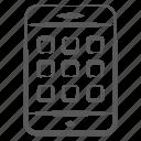 app design, app layout, mobile layout, mobile menu, mobile wireframe