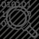 binary code, data science, data searching, digital data, search binary