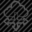 cloud computing, cloud connection, cloud directions, cloud technology, directional arrows