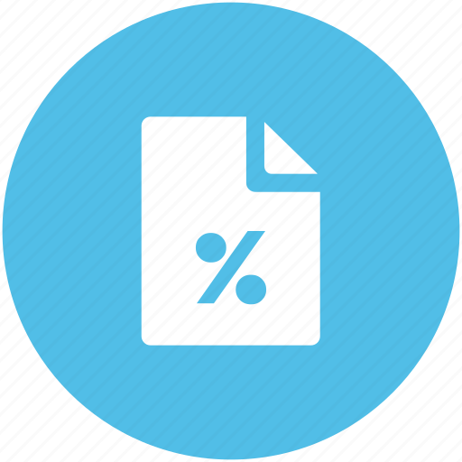 business, discount, e commerce, offer, percentage sheet, sheet icon