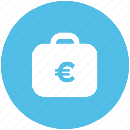 bag, banknote bag, business bag, currency bag, euro case, euro currency icon