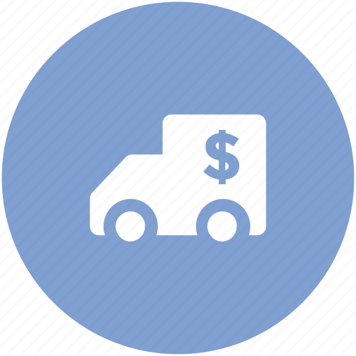 auto, automobile, bank delivery, bank van, bank vehicle, collector car, mobile bank icon