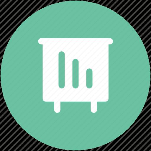 chart, chart board, diagram, increasing, presentation chart, whiteboard icon