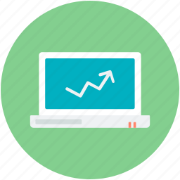 diagram, line chart, online analytics, online graphs, online infographics icon