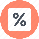 discount, mathematical symbol, percent, percentage, sale icon
