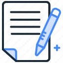 agreement, business, contract, document, paper, sign icon