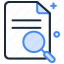 browse, data, document, find, serach icon