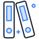 books, dictionarybook, file, library, organization, stack icon