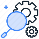 browse, find, locate, magnifier, search, seo, setup, tools icon